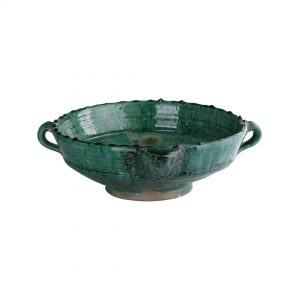 Green ceramic bowl