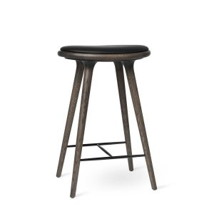 High Stool - Grey Stained Oak by Mater