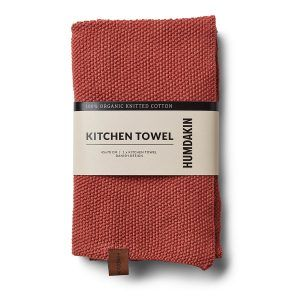 Knitted kitchen towel dusty powder humdakin