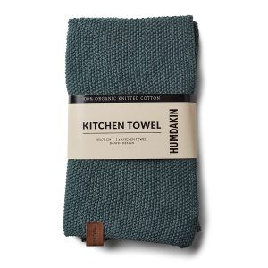 Knitted kitchen towel green seaweed Humdakin