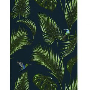 Wallpaper jungle blue papermint
