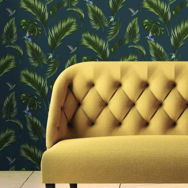 Wallpaper Jungle Blue Papermint