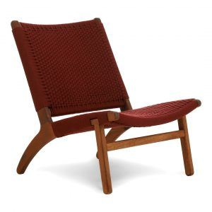 Kids lounge chair burgundy