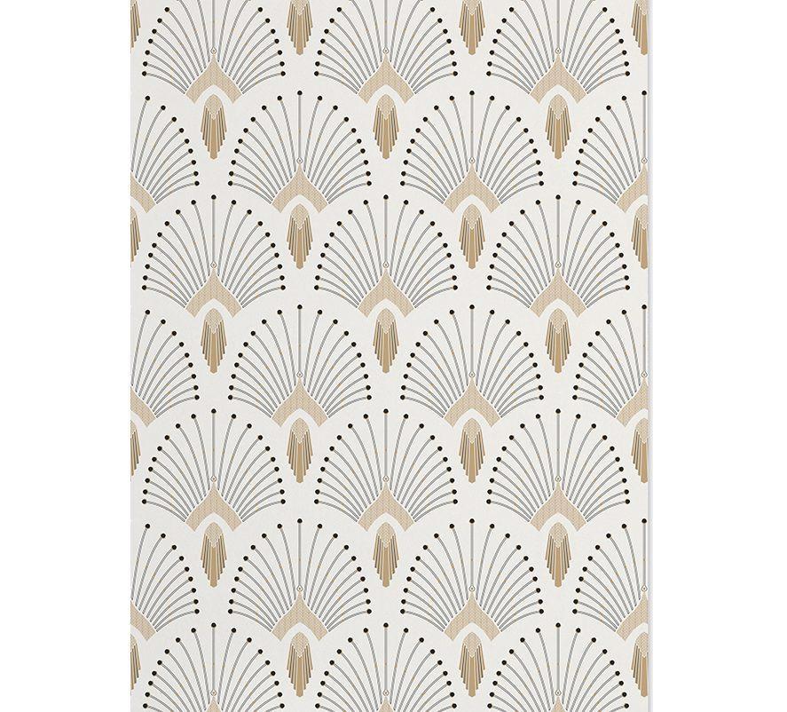 wallpaper in 1925 beige gold. Black Bedroom Furniture Sets. Home Design Ideas