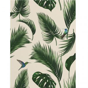 Wallpaper jungle beige papermint