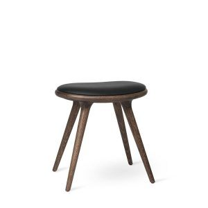 Low Stool – Dark Stained Oak by Mater