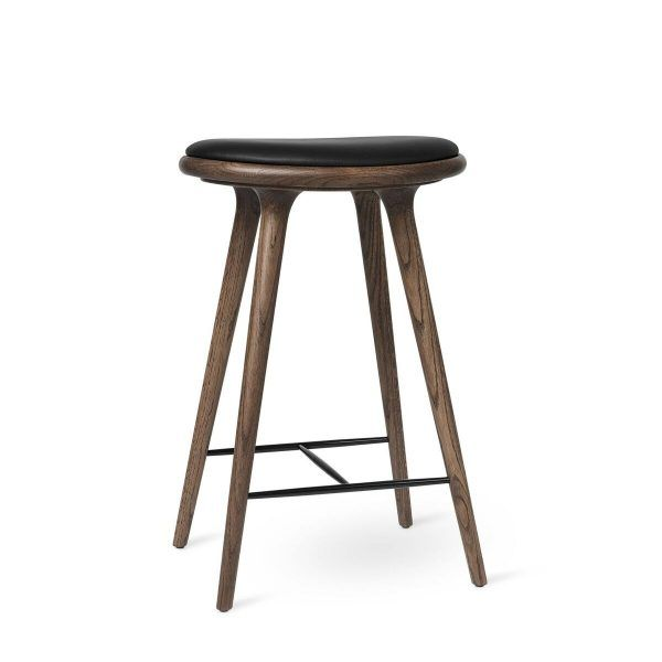 High Stool - Dark Stained Oak by Mater