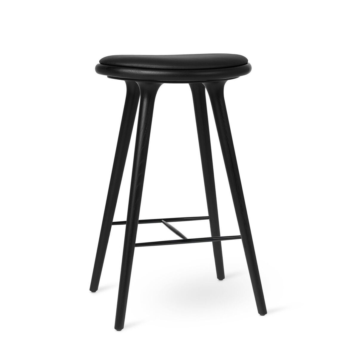 High Stool - Black Stained Oak by Mater.