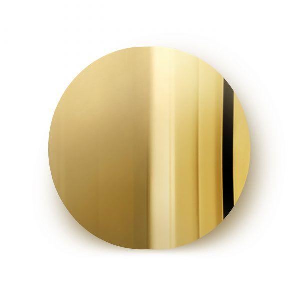 Imago Mirror Object Brass Mater