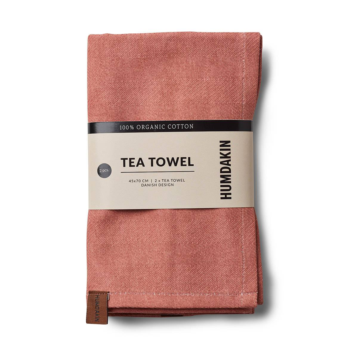 Organic Tea Towels Dusty Powder Humdakin
