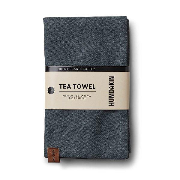 Organic Tea Towels green seaweed Humdakin