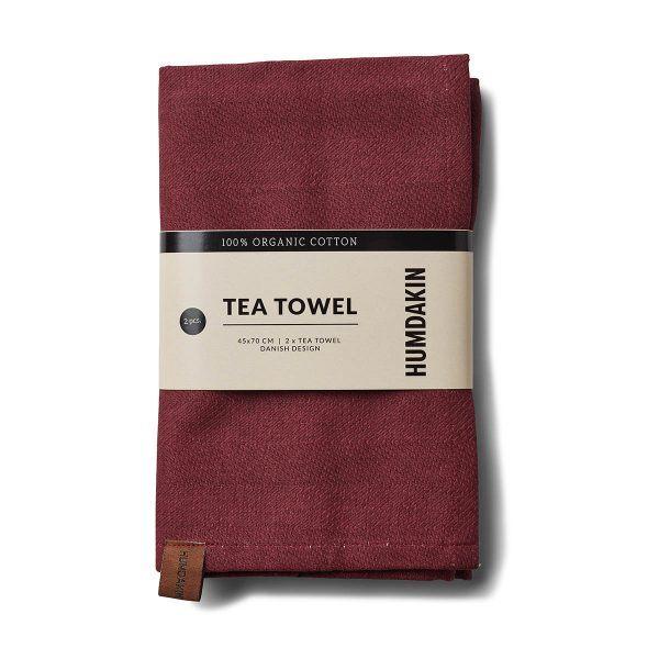 Organic Tea Towels violet plumb Humdakin