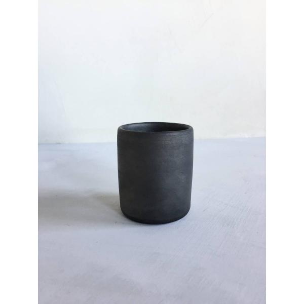 Reduced black ceramic espresso cup