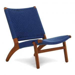 Kids lounge chair blue