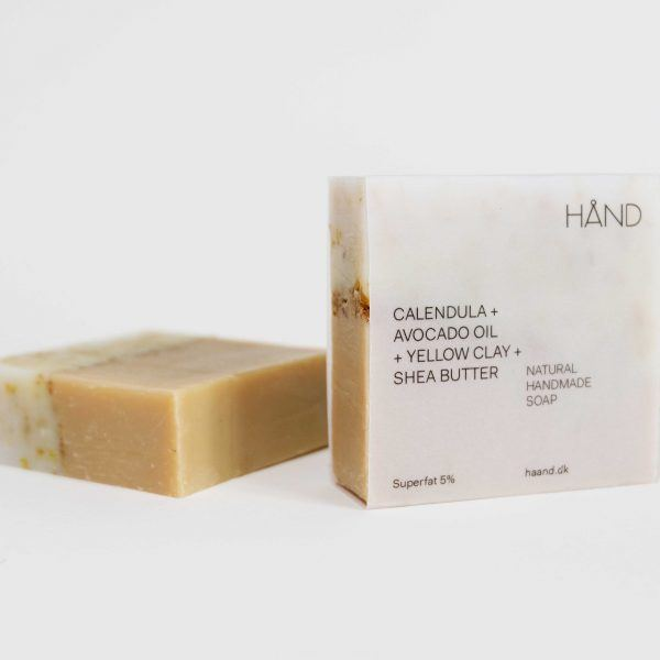 Organic Soap Bar with Calendula + Avocado Oil + Yellow Clay + Shea Butter by HÅND