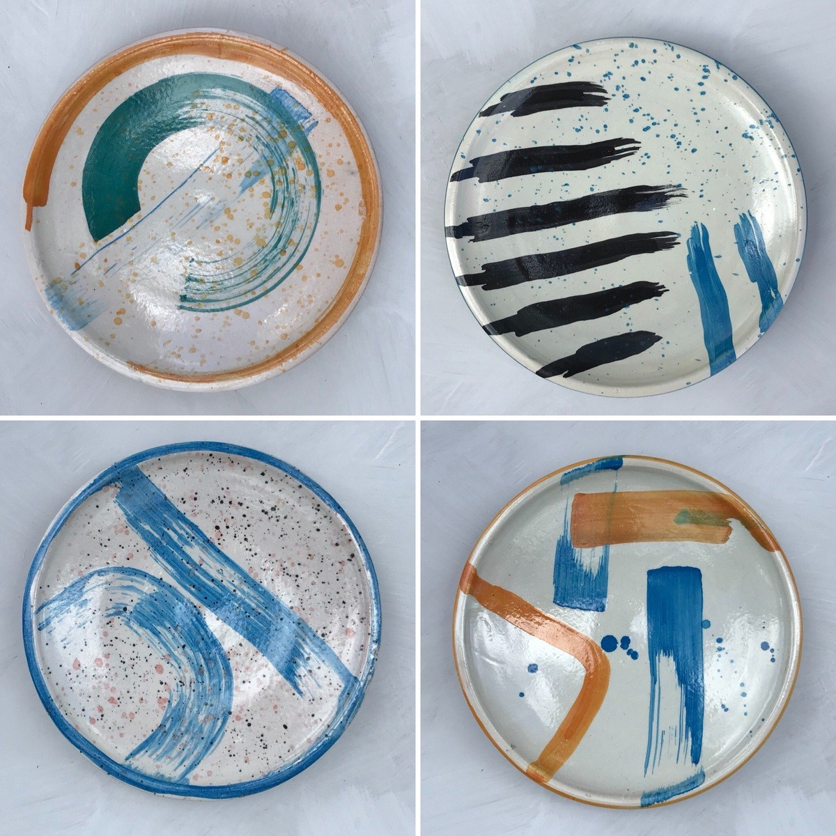 Hand-painted Ceramic Plates by Kam Design