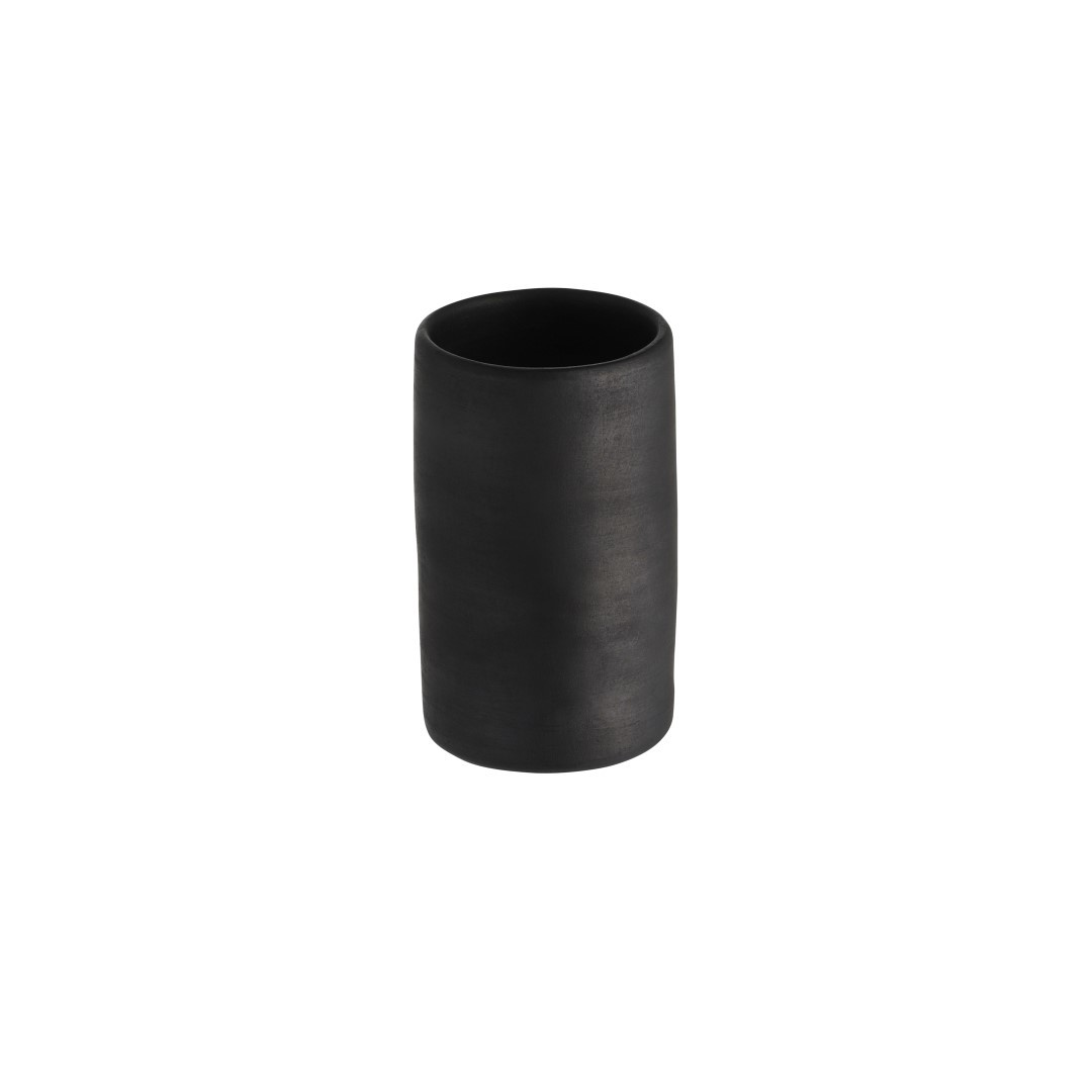 Black, reduced ceramic vase Small