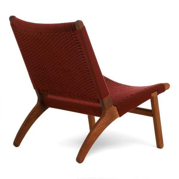 Kids lounge chair burgundy