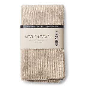 Knitted kitchen towel light stone humdakin