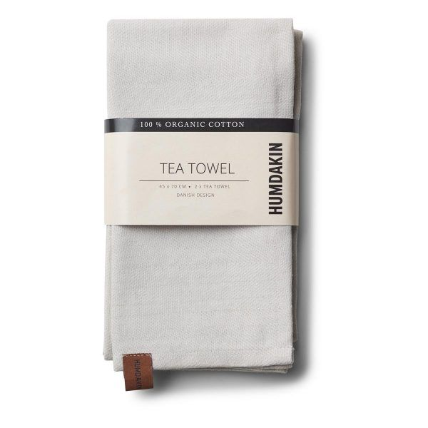 Organic Tea Towels light stone Humdakin