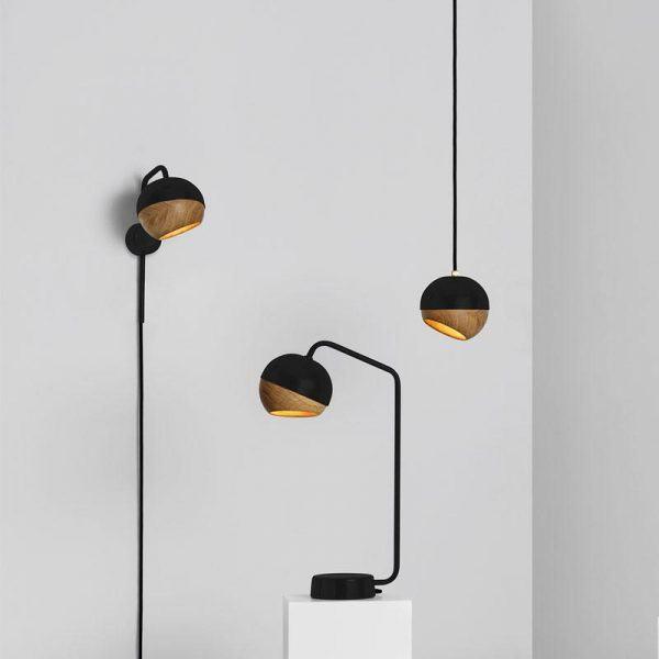 Black Ray Wall Lamp Mater