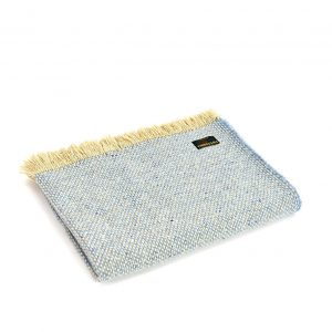 Crosshatch Sky Blue Throw Tweedmill