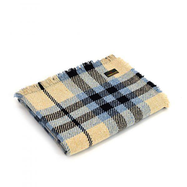 Keith Check Navy/Cream Throw Tweedmill