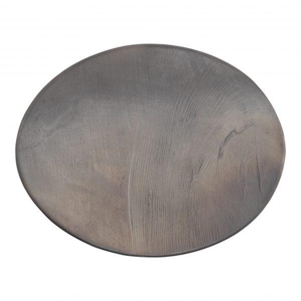 reduced black ceramic plate