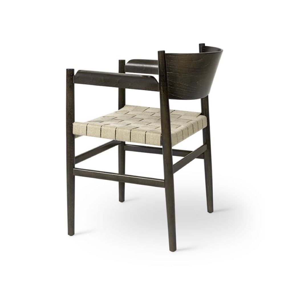 Nestor Chair in Sirka Grey Beech with Linen Webbing Seat by Mater.