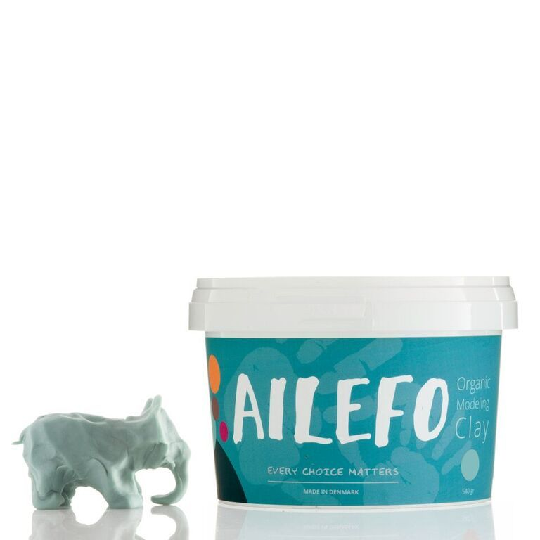 Blue Organic Modelling clay Ailefo