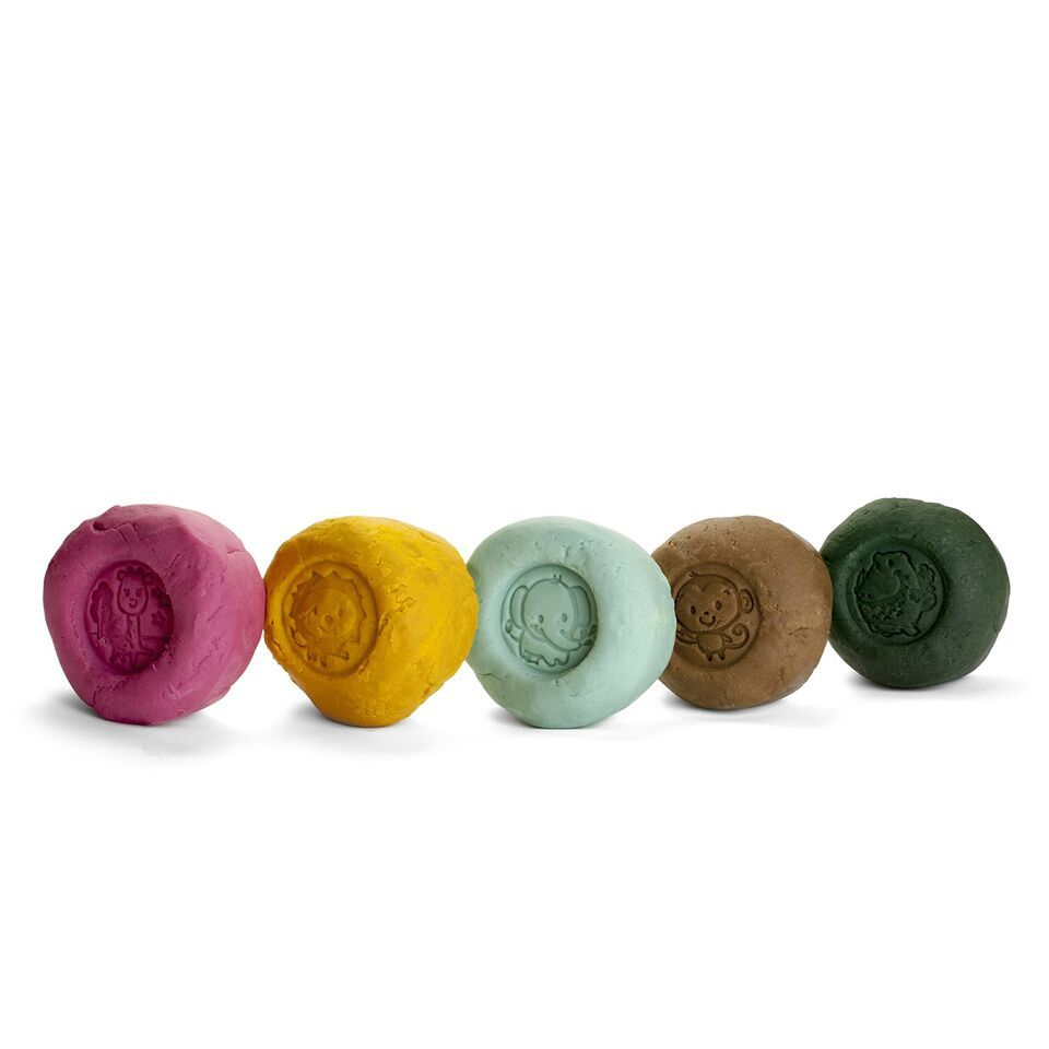 5 Colours X 100 G Organic Modelling Clay