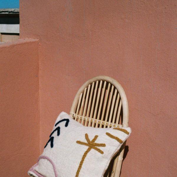 LRNCE bowl N°1 terracotta clay-based ceramic handmade handpainted Morocco