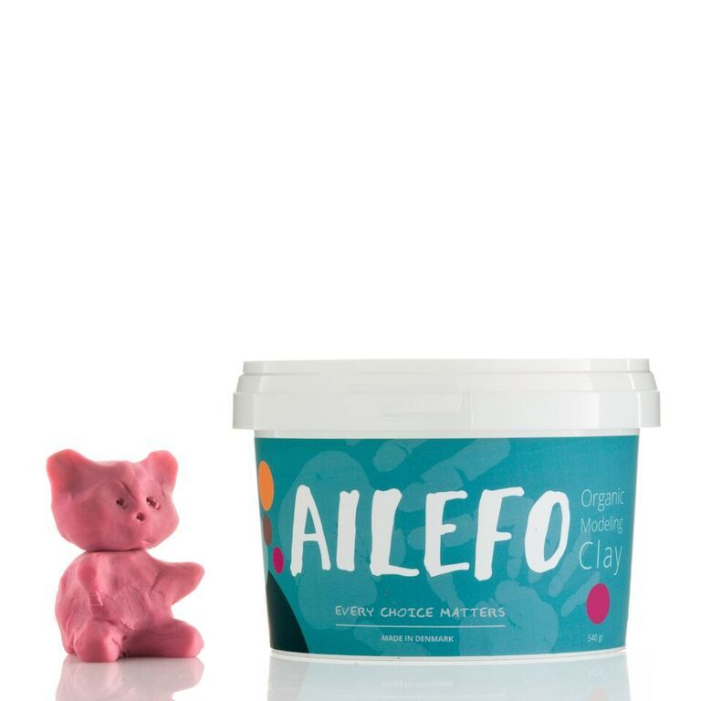 Pink Organic Modelling clay Ailefo