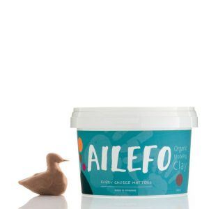 Brown Organic Modelling clay Ailefo