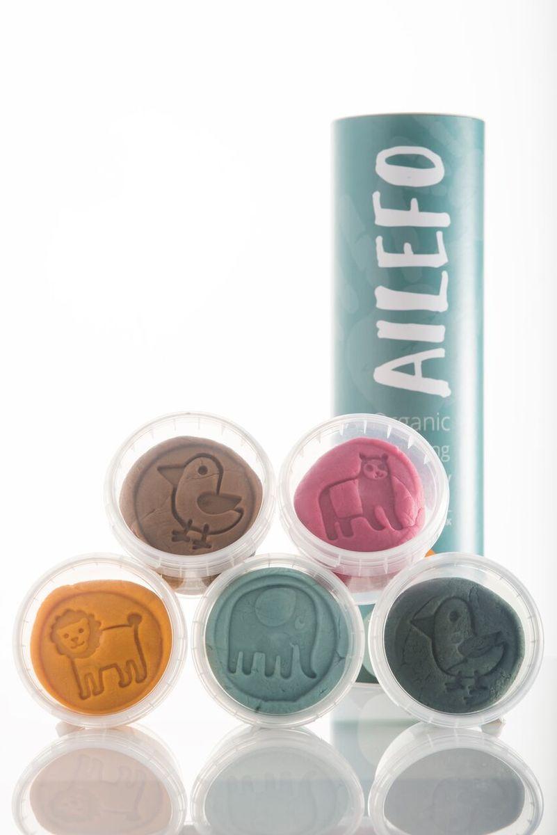 Ailefo Organic Modelling Clay 5 Colours cardboard tube YUME