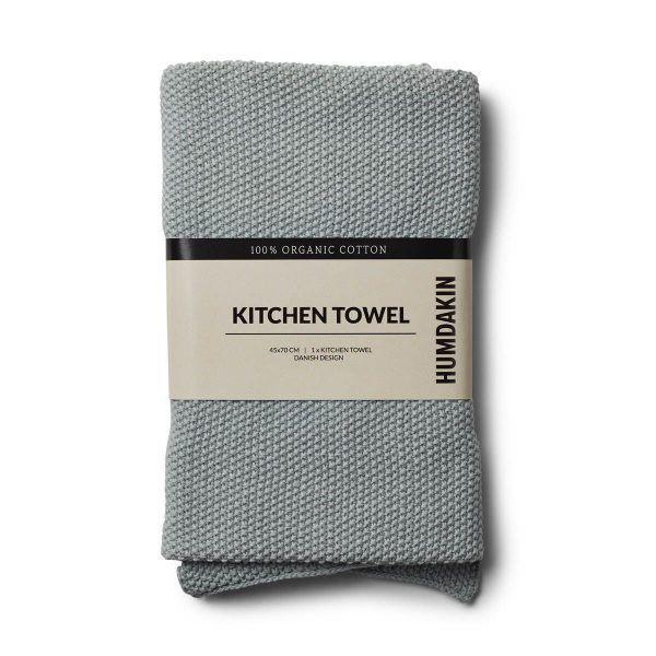 Knitted kitchen towel Stone Humdakin YUME, YUMEcph