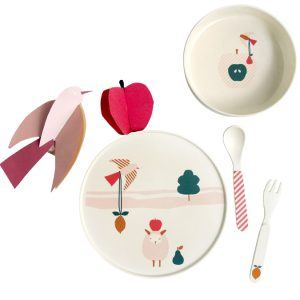 sheep Kids bamboo tableware Engel