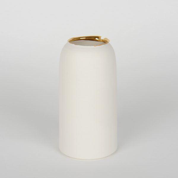 Large Porcelain Vase Gold Karen Petit