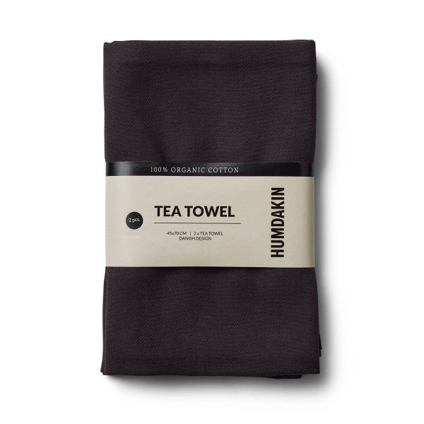 Organic Tea Towels coal Humdakin