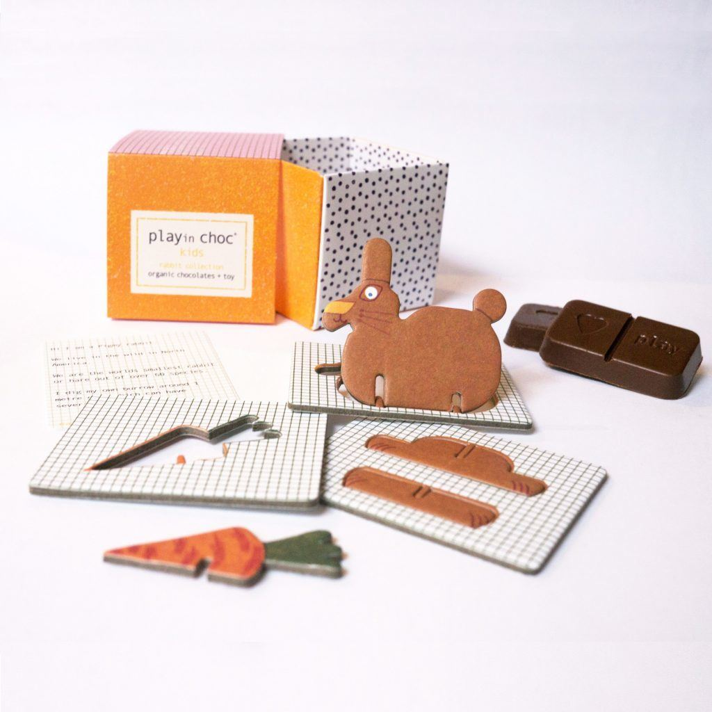 organic vegan chocolate rabbit collection