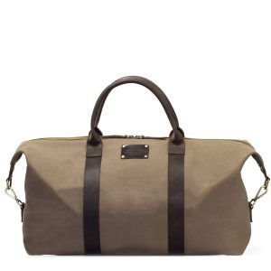 Andie's Getaway Weekend Bag Olive Waxed Canvas
