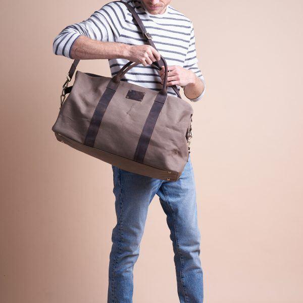 Andie's Getaway Weekend Bag Olive Waxed Canvas