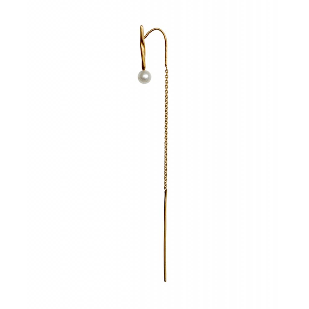 Anna earring gold plated pearl stories