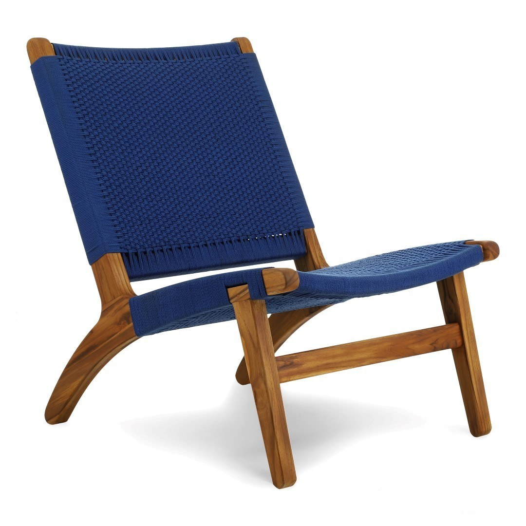 Masaya lounge chair blue