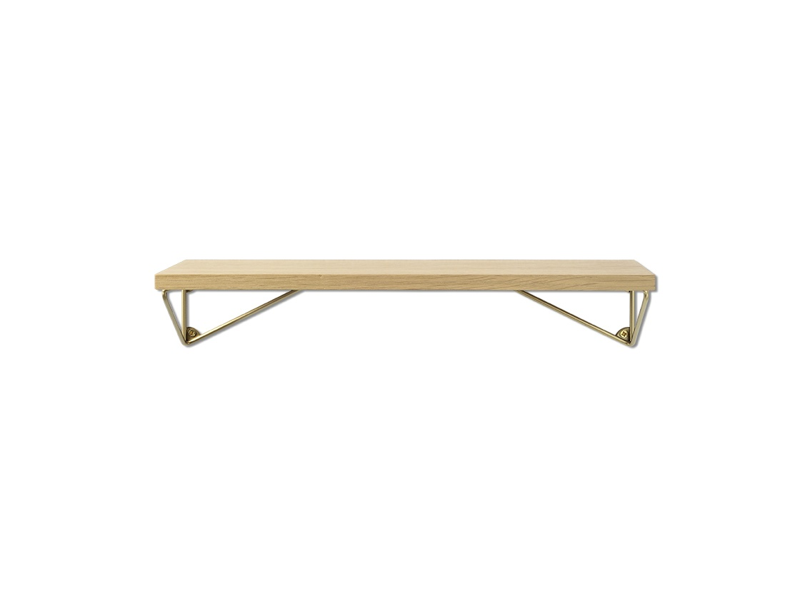 Pythagoras XS brass oak shelf