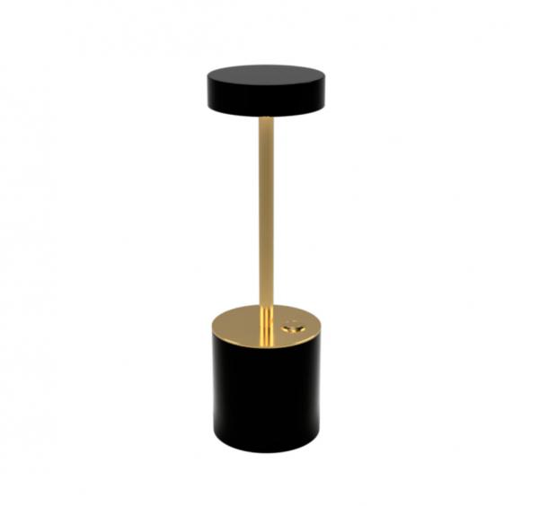 Brass & Black Table Lamp 1