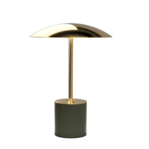 Brass & Olive Table Lamp III