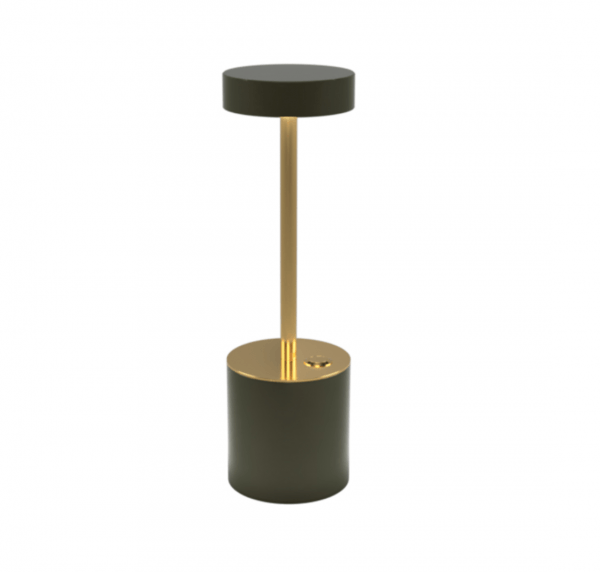 Brass & Olive Table Lamp I