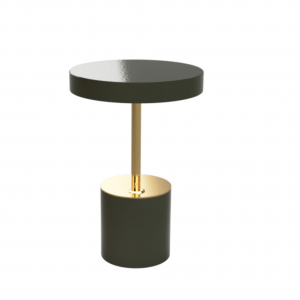 Brass & Olive Table Lamp IV