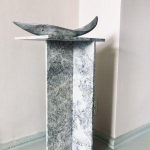 Vintage Sculptural Steel Bowl